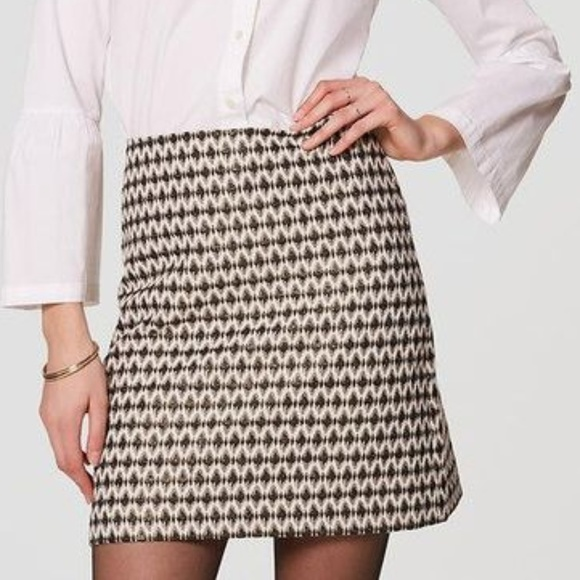 583d2f3b245ba4 LOFT Skirts   Diamond Jacquard Shift Skirt   Poshmark